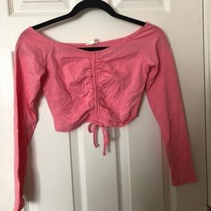 3x NWT Off the Shoulder long sleeve crops